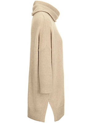 Peter Hahn Cashmere Nature - Roll-neck jumper in 100% cashmere