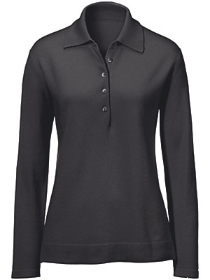 Peter Hahn Cashmere - Polo jumper in pure cashmere