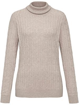Peter Hahn Cashmere - Roll neck jumper in 100% cashmere