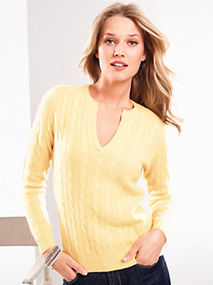 Peter Hahn Cashmere - Round neck jumper in pure cashmere