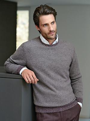Peter Hahn Cashmere - Round neck pullover in 100% cashmere