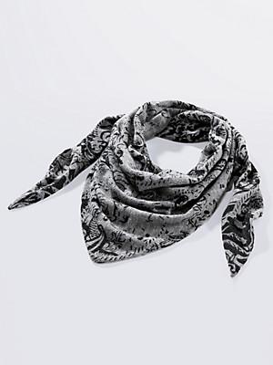 Peter Hahn Cashmere - Triangular knitted scarf