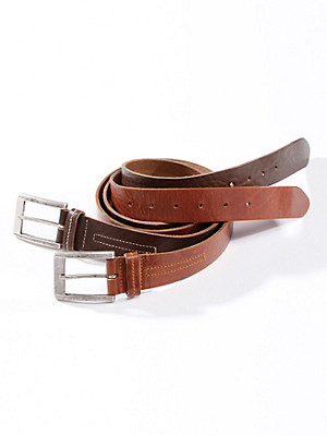 Peter Hahn - Grainy cowskin leather belt