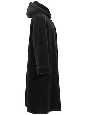 Peter Hahn - Hooded coat in feathery light, radiant alpaca