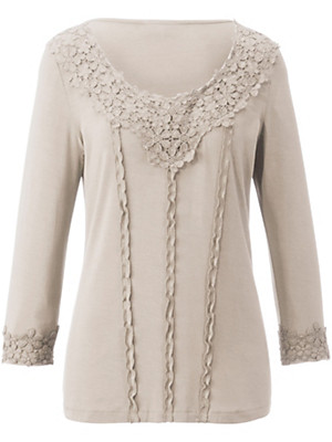 Peter Hahn - Jersey top with 3/4-length sleeves