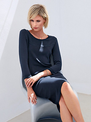 Peter Hahn - Knitted dress with 3/4-length sleeves