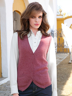 Peter Hahn - Knitted waistcoat in 100% new milled wool