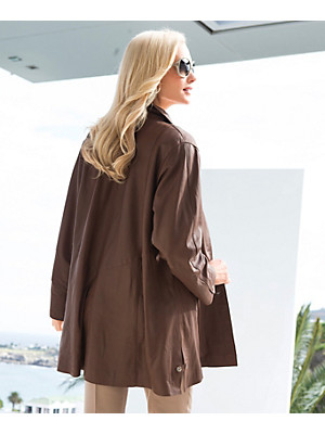 Peter Hahn - Leather swing coat