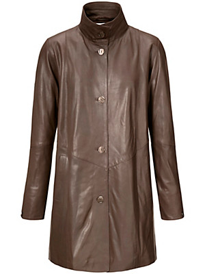 Peter Hahn - Leather swing coat