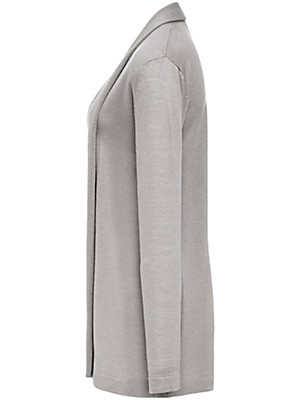 Peter Hahn - Long cardigan in 100% new milled wool