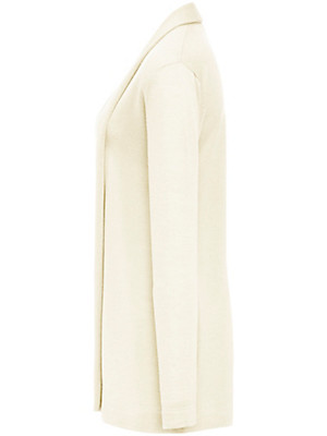 Peter Hahn - Long cardigan in 100% new milled wool