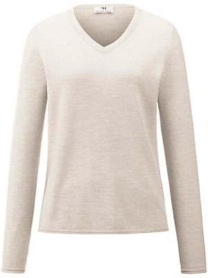 Peter Hahn - Long-sleeved V neck pullover