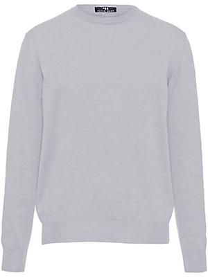 Peter Hahn - Round neck jumper in 100% new milled wool