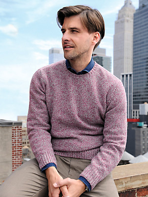 Peter Hahn - Round neck pullover in 100% wool