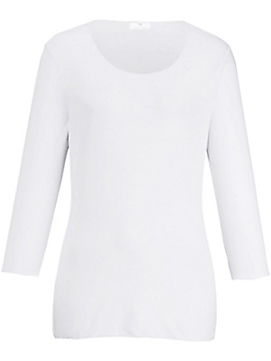Peter Hahn - Round neck top 3/4-length sleeves