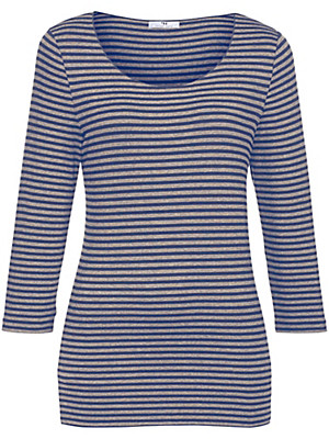 Peter Hahn - Striped top with 3/4-length sleeves