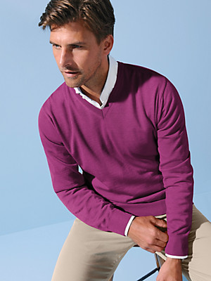 Peter Hahn - V-neck jumper in 100% new wool - Design MARCO