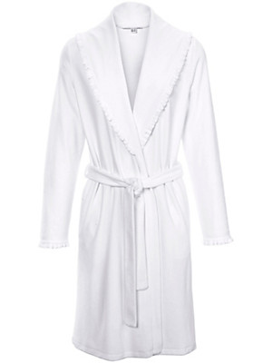 Peter Hahn - Velour dressing gown with a shawl collar