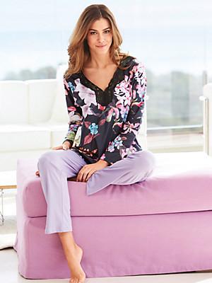 Pill - V neck pyjamas in 100% cotton
