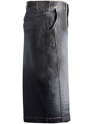 Samoon - Denim skirt with panel seams