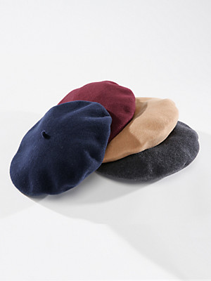 Seeberger - Beret in 100% new milled wool