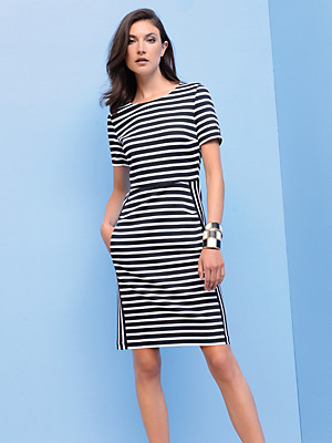 Strenesse - Jersey dress with 1/2-length sleeves