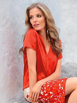Uta Raasch - Blouse with short sleeves in 100% silk