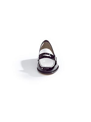 Uta Raasch - Patent calfskin leather two-tone slip-ons