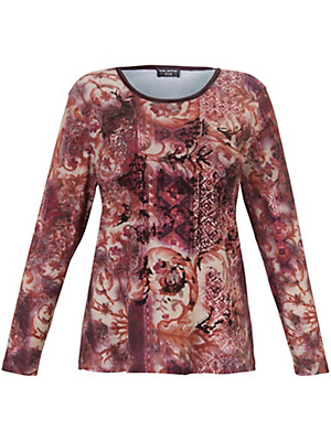 Via Appia Due - Top with a fashionable ethnic pattern