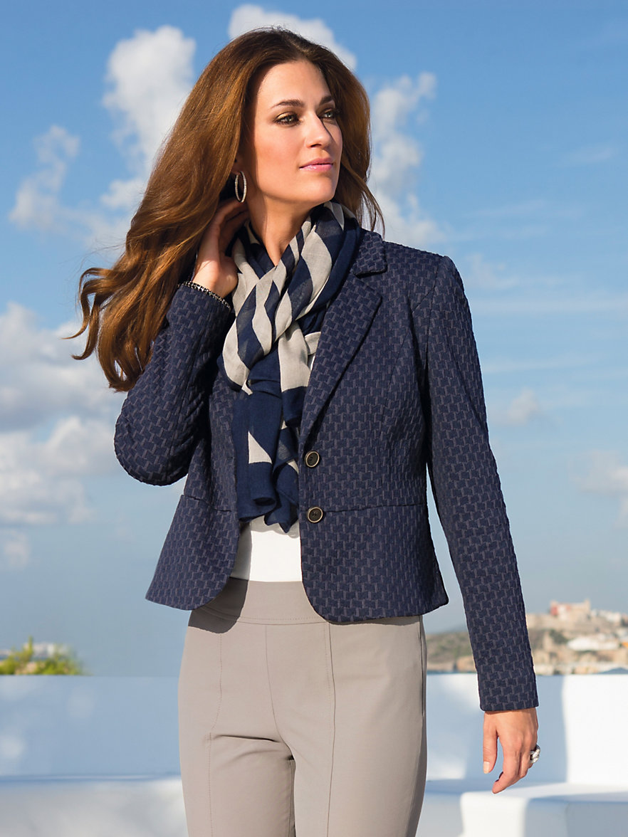 Betty barclay blazer navy for Betty barclay