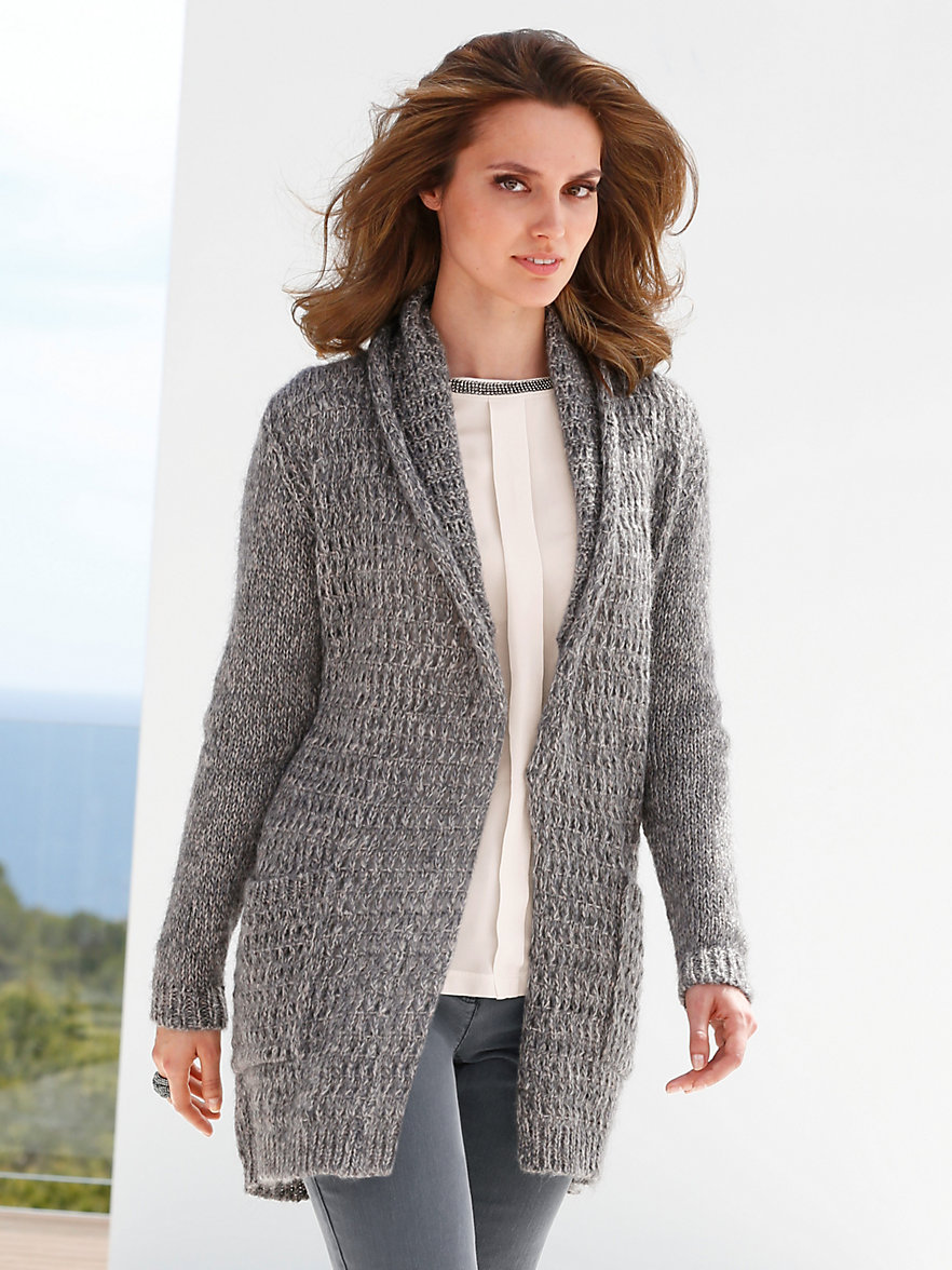 Betty barclay cardigan stone grey beige for Betty barclay