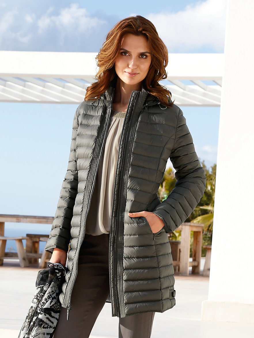Betty barclay down jacket dark olive for Betty barclay