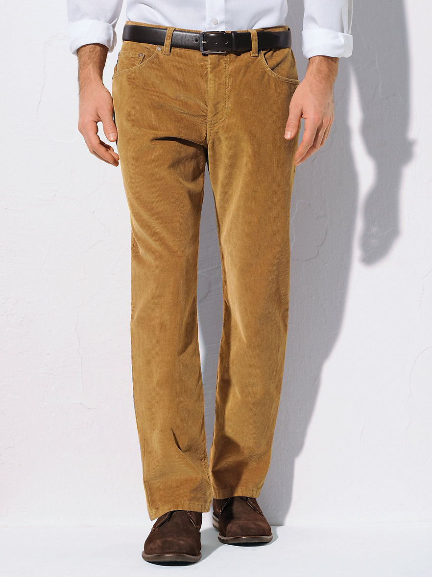 Trouser Corduroy Pants: Irresistibly soft corduroy pants with classic trouser styling and a hint of stretch for a comfortable fit. Fly front, double-button waist
