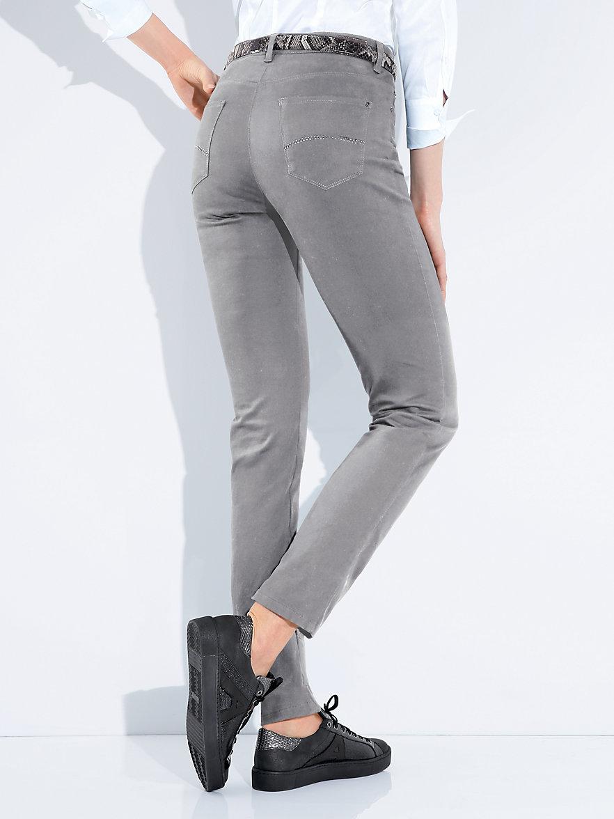 brax feel good slim fit jeans design mary glamour grey. Black Bedroom Furniture Sets. Home Design Ideas