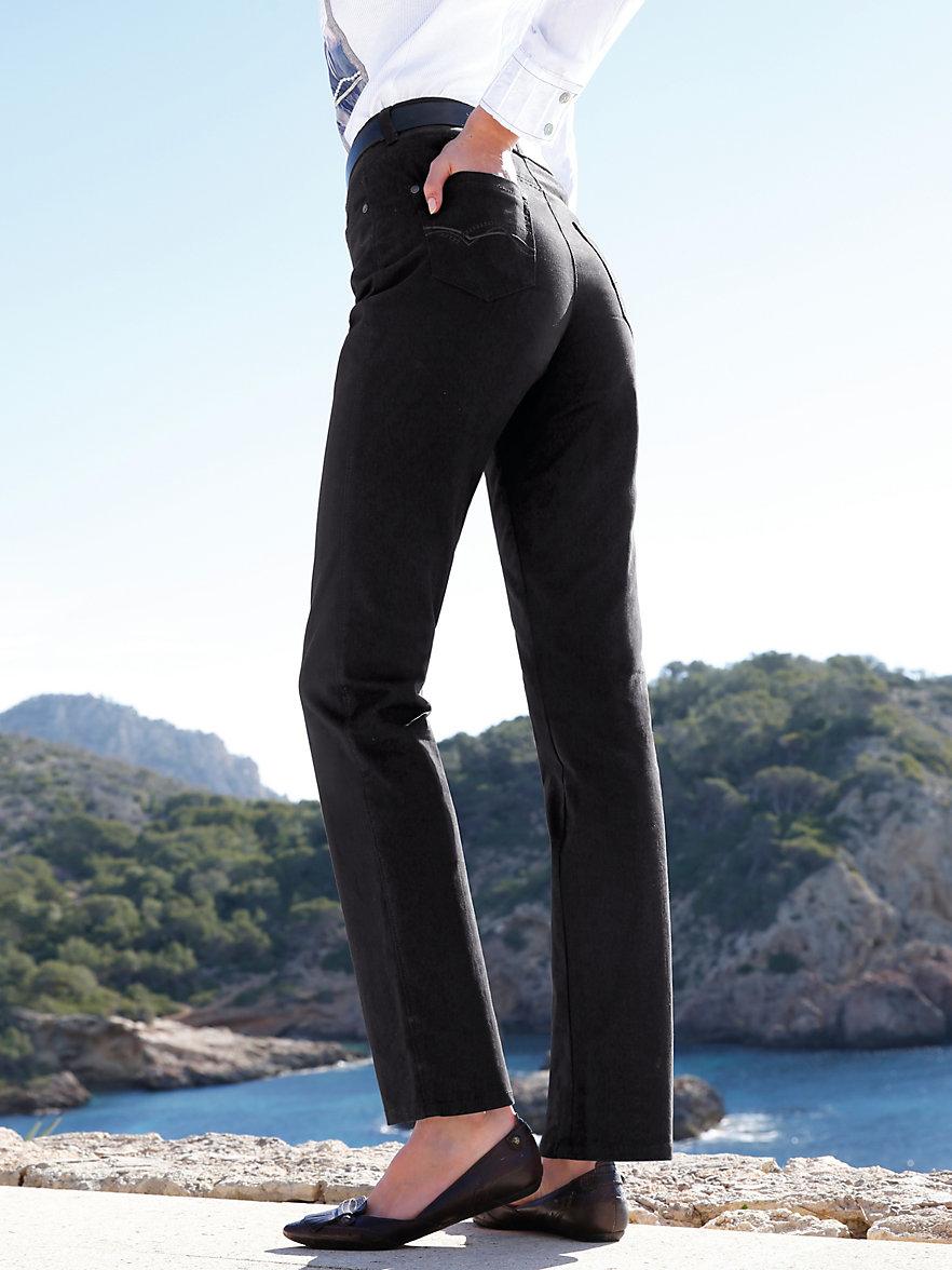 brax feel good trousers black. Black Bedroom Furniture Sets. Home Design Ideas