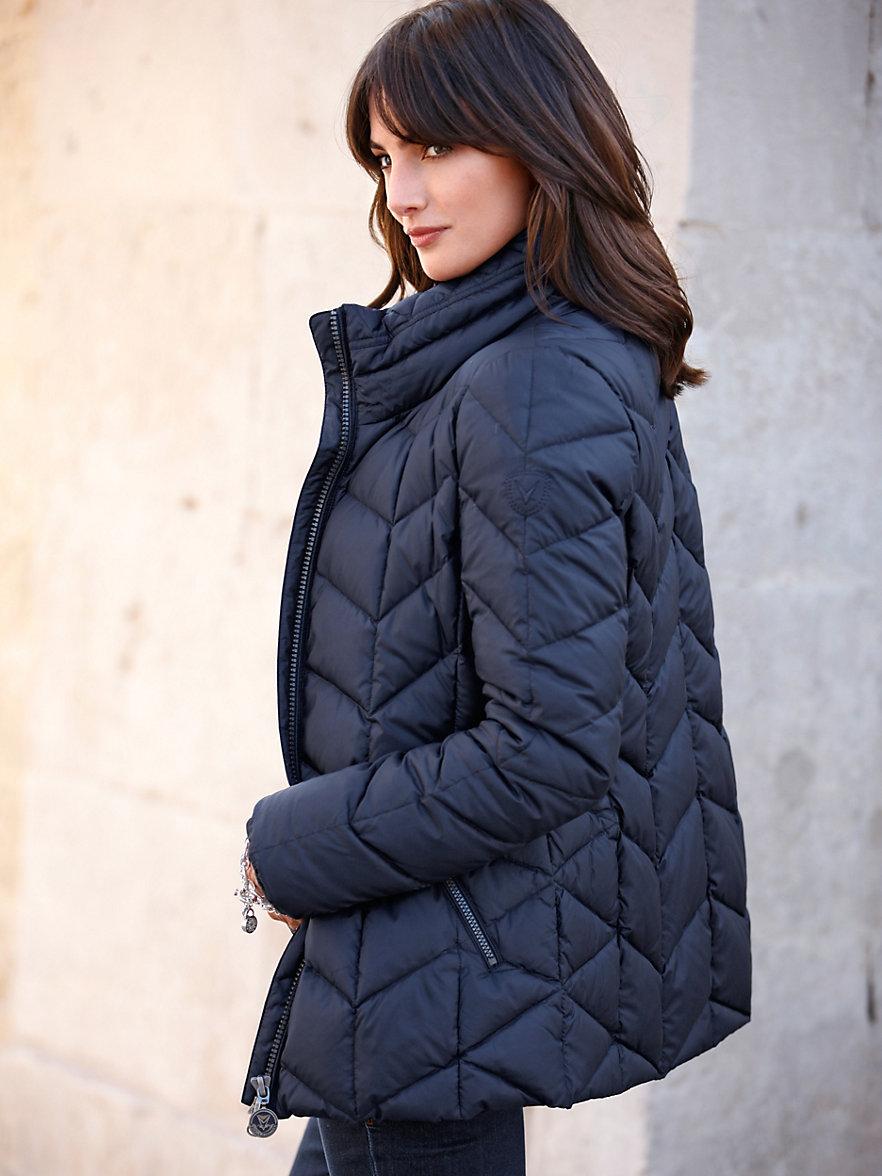 fuchs schmitt quilted jacket blue. Black Bedroom Furniture Sets. Home Design Ideas