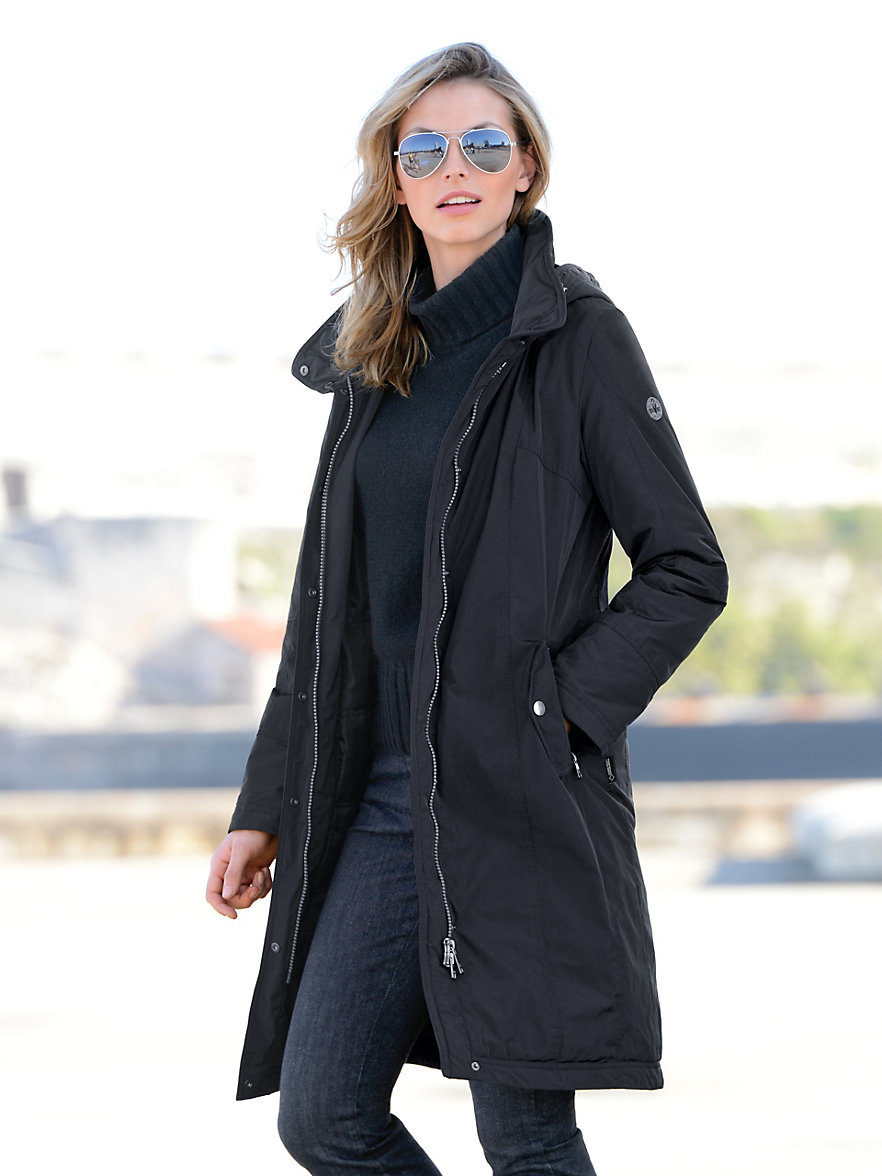 fuchs schmitt short coat black. Black Bedroom Furniture Sets. Home Design Ideas