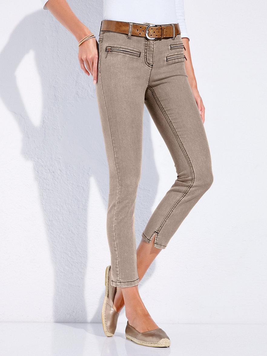 looxent 7 8 length jeans dark taupe. Black Bedroom Furniture Sets. Home Design Ideas