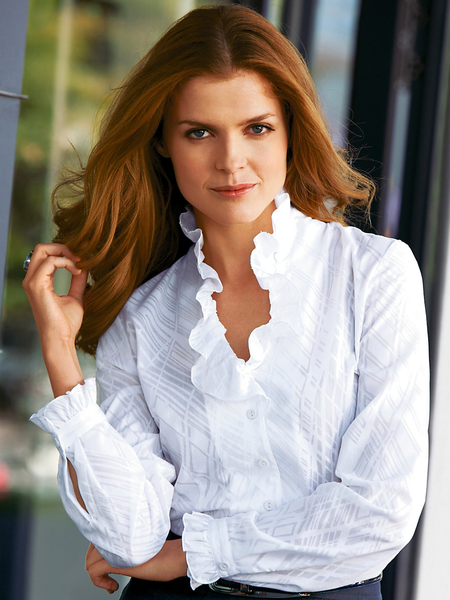 Peter hahn blouse white