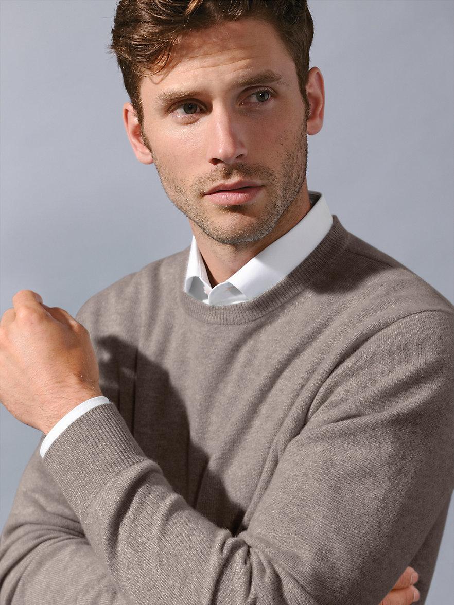 peter hahn cashmere round neck jumper in 100 cashmere. Black Bedroom Furniture Sets. Home Design Ideas