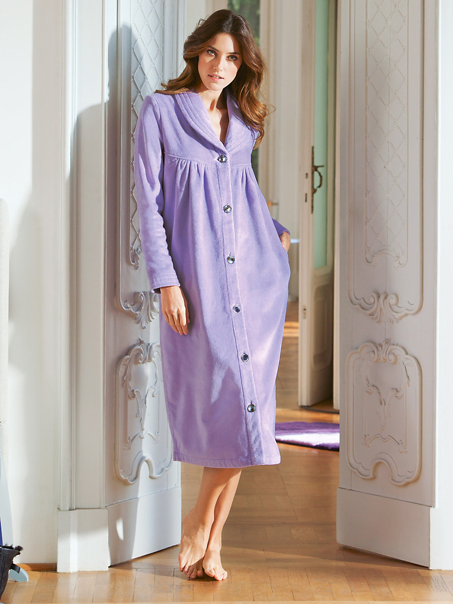 model dressing gown