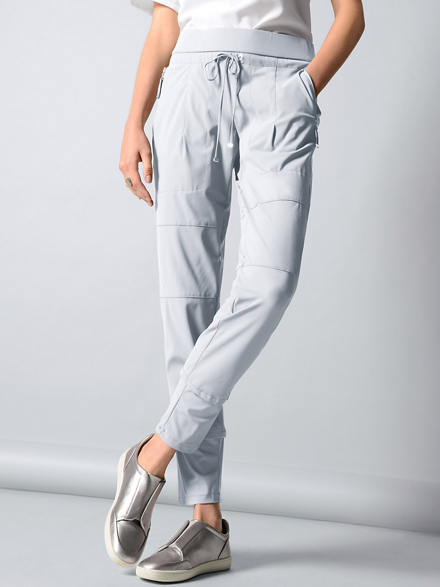 raffaello rossi ankle length jersey trousers candy light grey. Black Bedroom Furniture Sets. Home Design Ideas