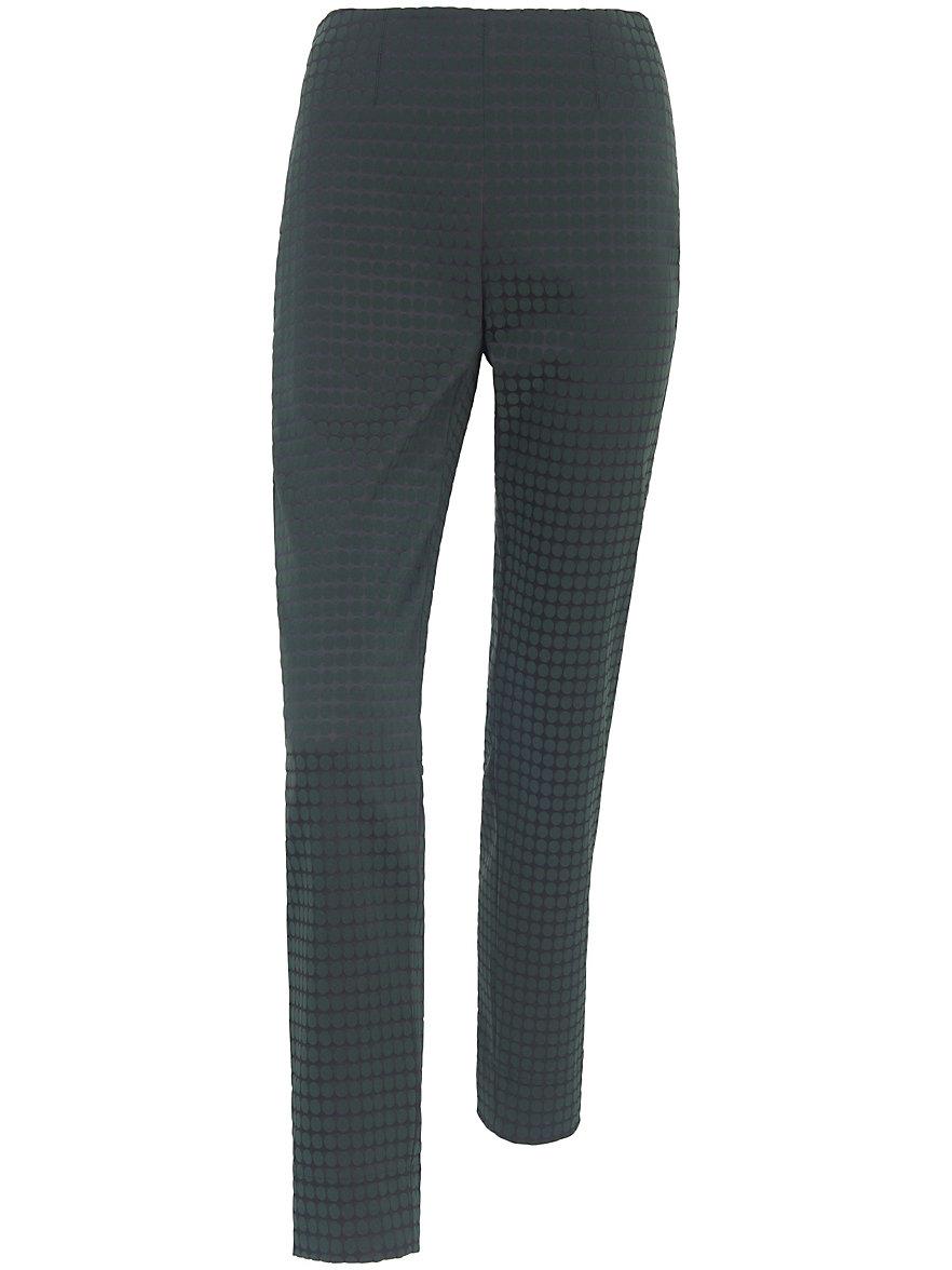 raffaello rossi slim fit slip on trousers penny dark green. Black Bedroom Furniture Sets. Home Design Ideas