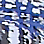 ice blue/multicoloured