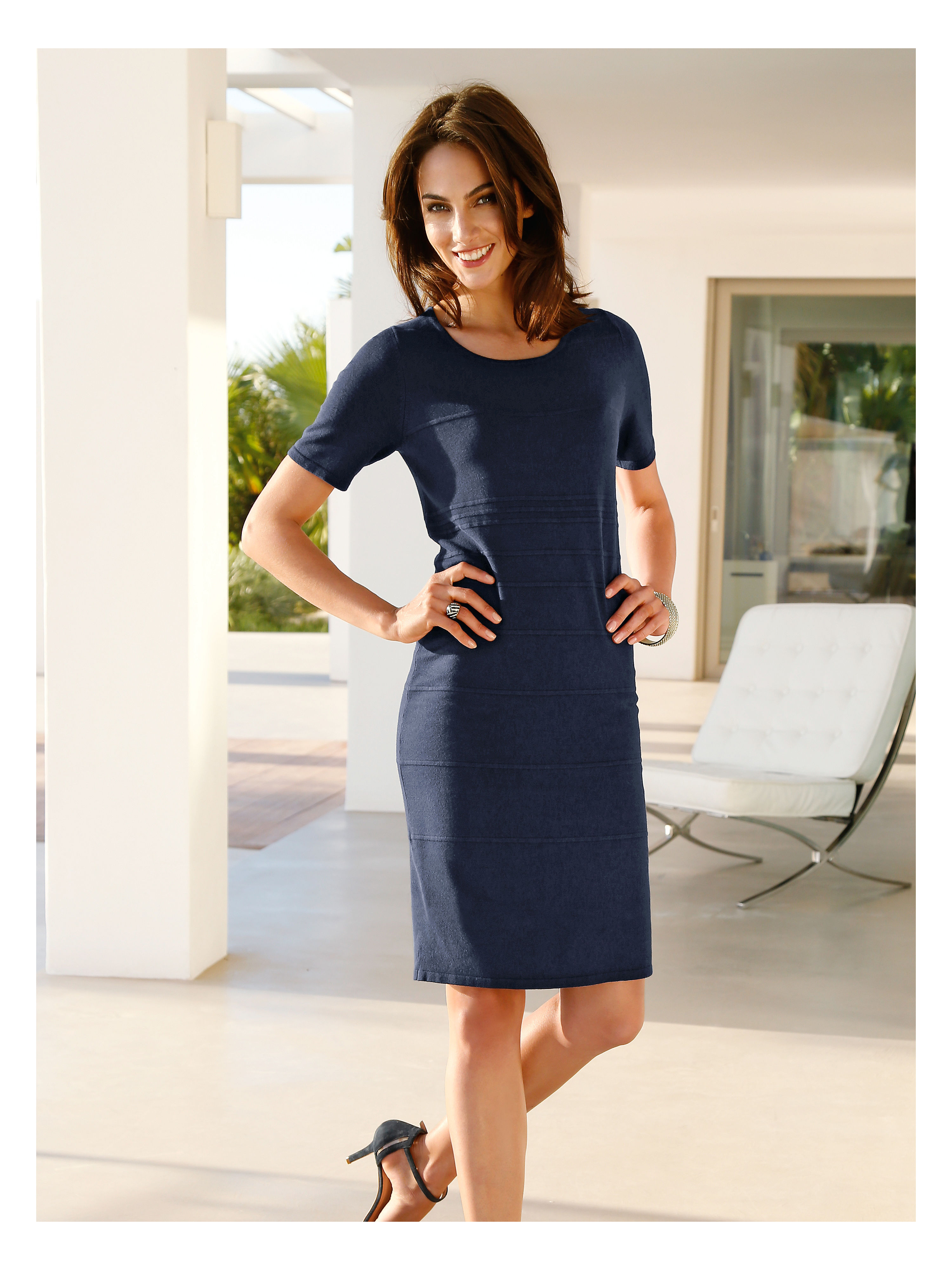 Knitted dress from Peter Hahn blue