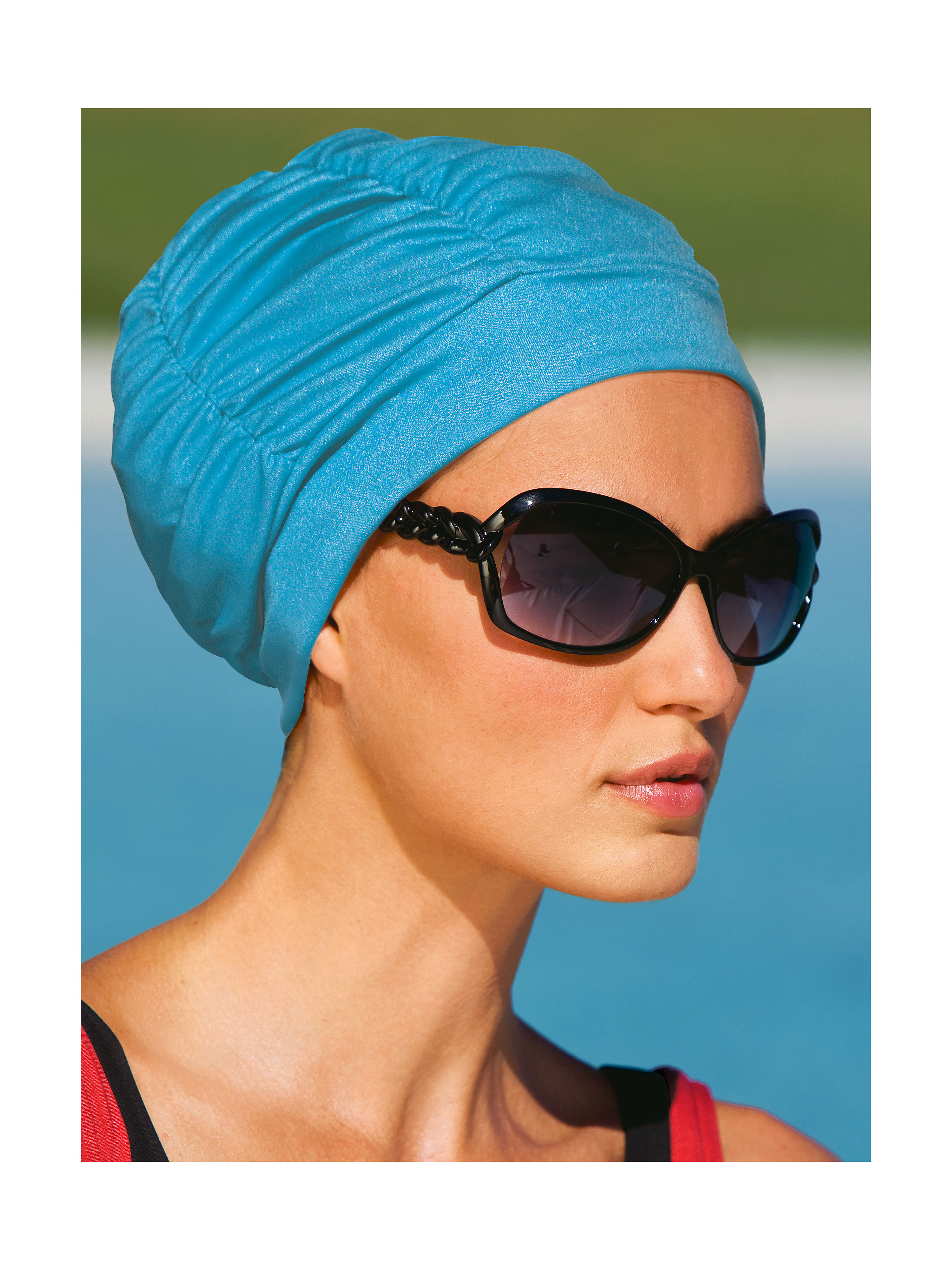 Swimming hat from Fashy turquoise