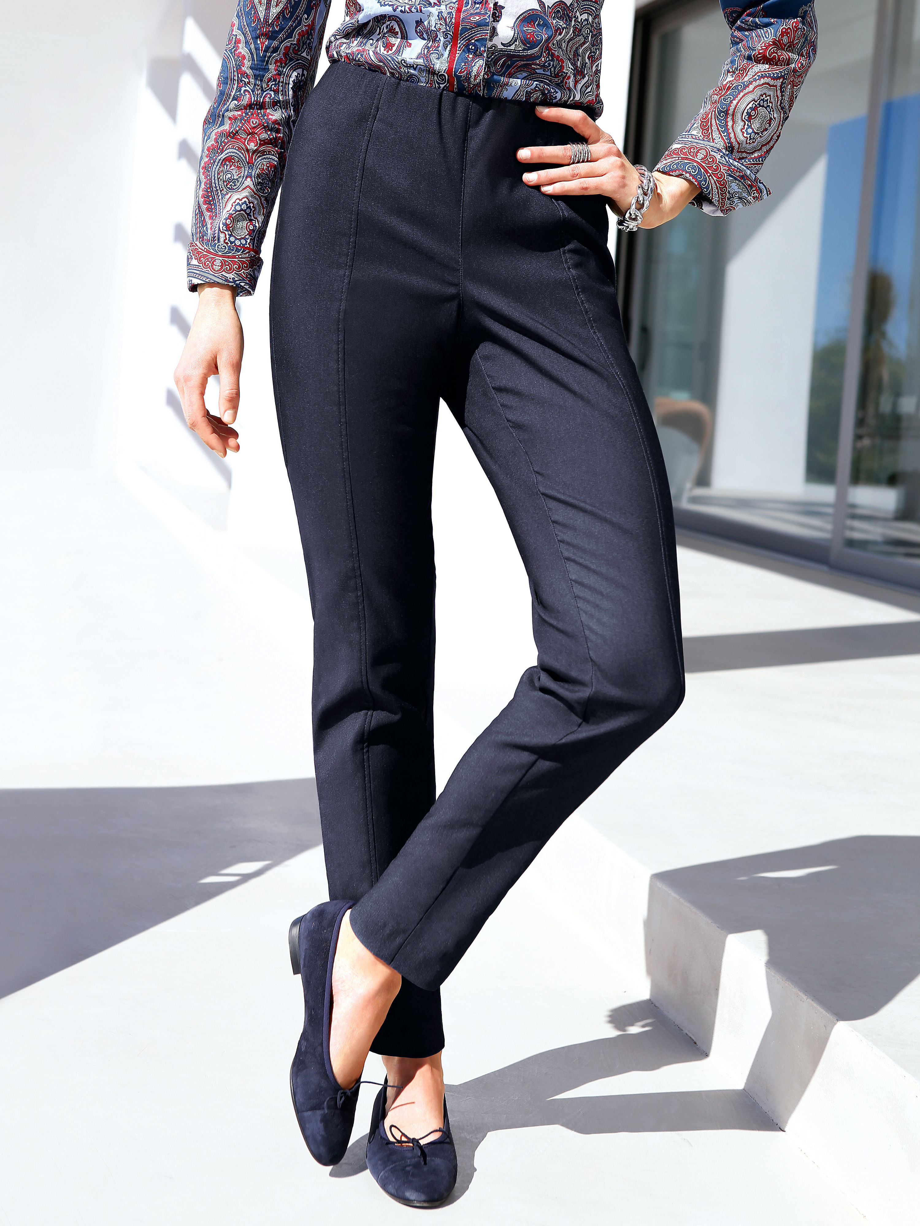 Thermal slipon trousers from Peter Hahn blue