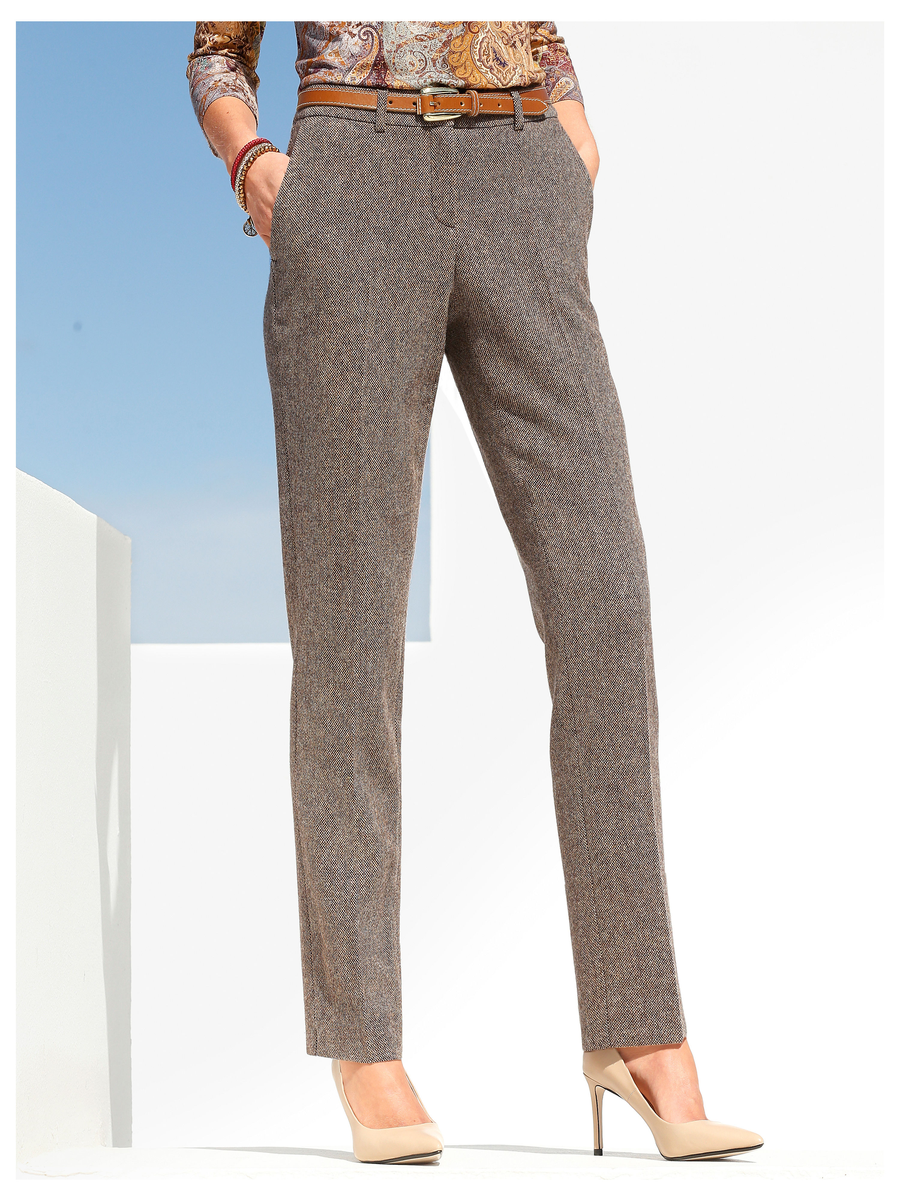 Tweed trousers from Peter Hahn multicoloured