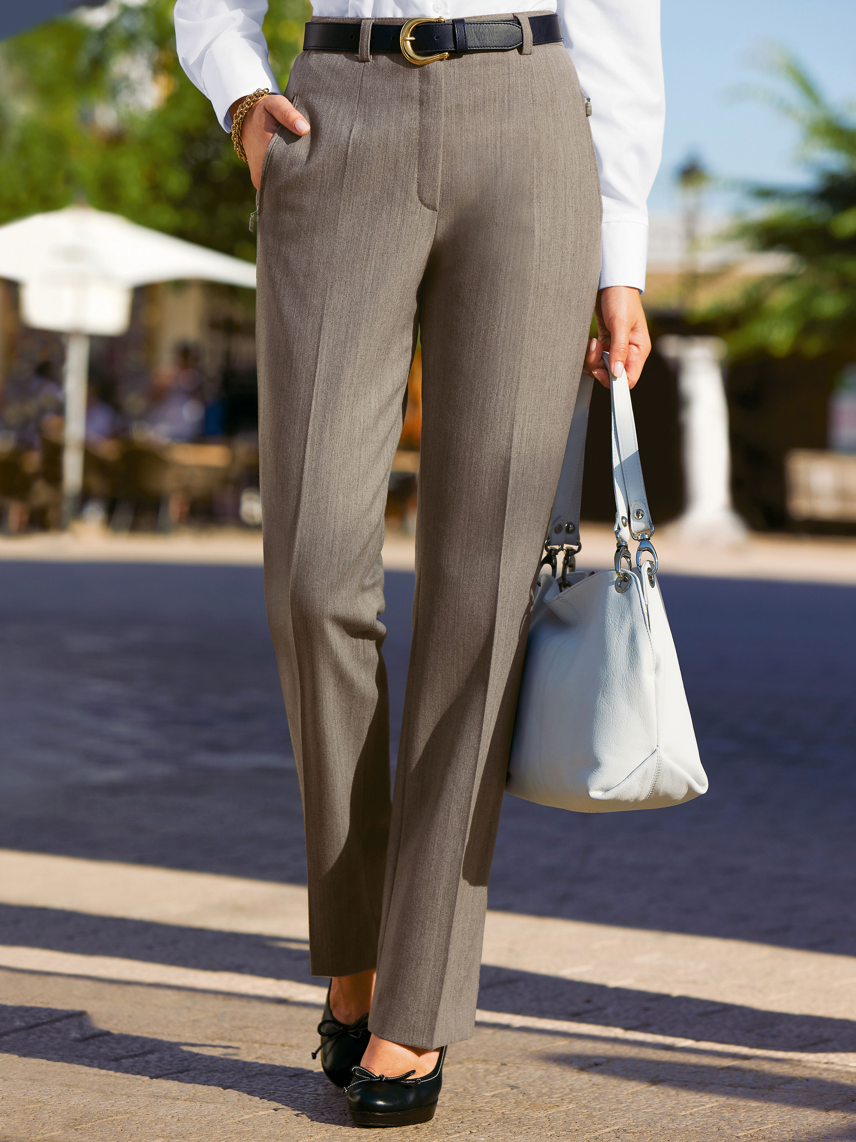 Travelling trousers from Raphaela by Brax brown