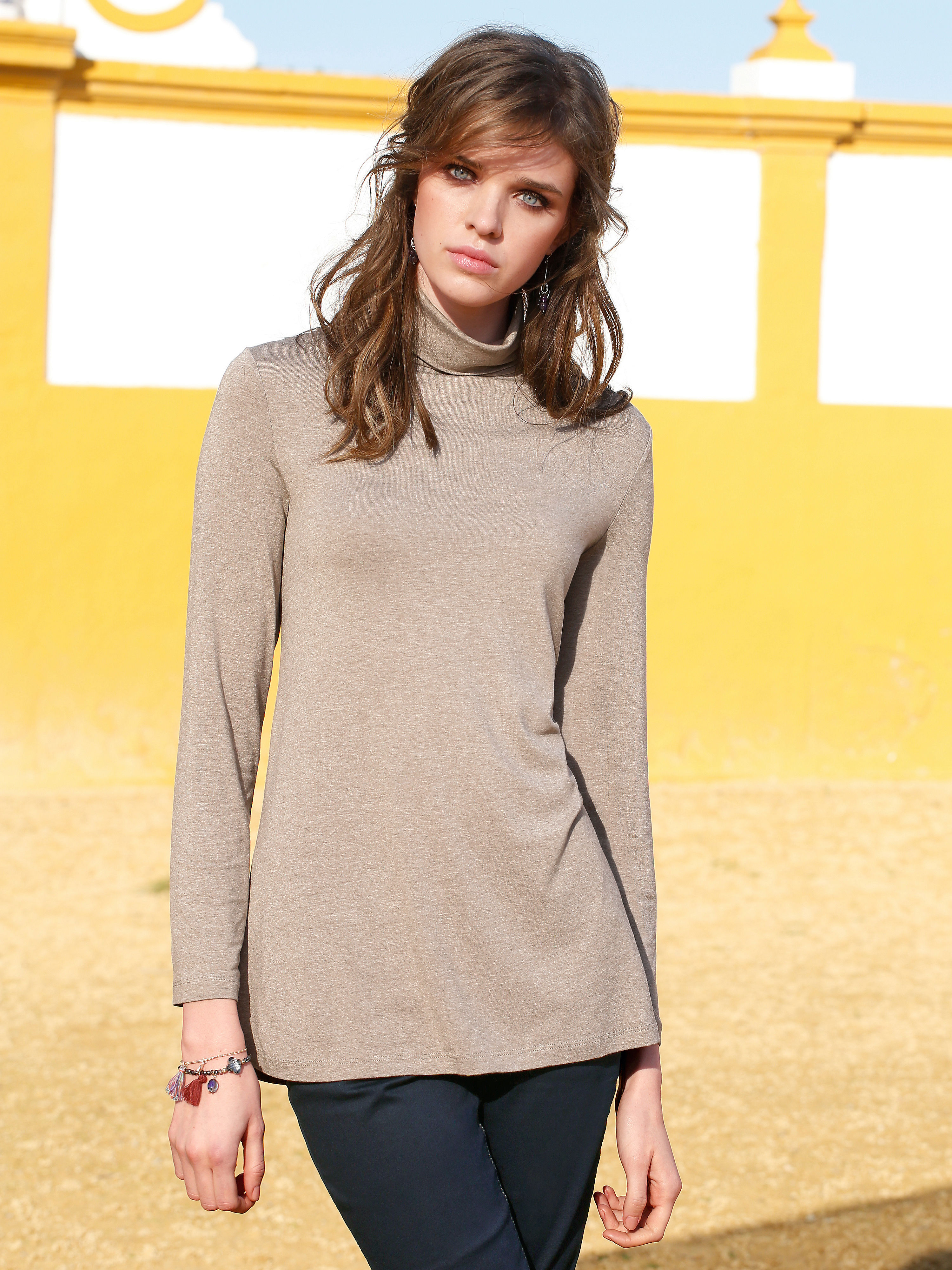 Roll neck top from Peter Hahn brown